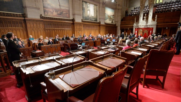 A ceremony in the senate chamber, on Tuesday Dec.9, 2014 in Ottawa. (Adrian Wyld / THE CANADIAN PRESS)