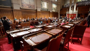 A ceremony in the senate chamber in Ottawa on Tuesday Dec.9, 2014. (Adrian Wyld / THE CANADIAN PRESS)
