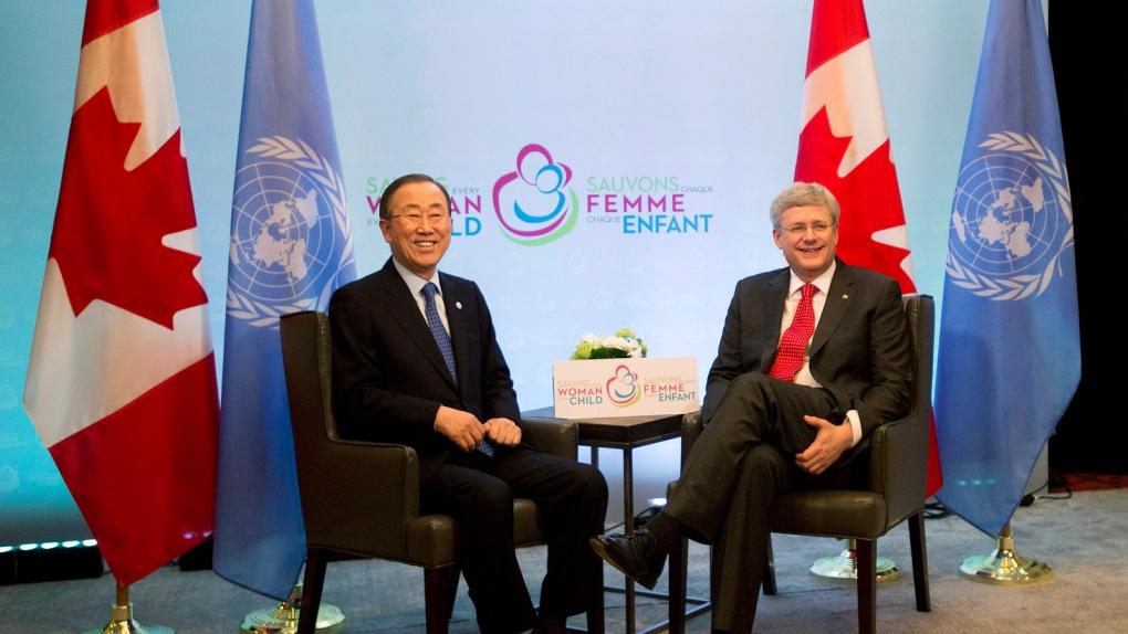 Stephen Harper and Ban Ki-moon