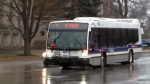 A Grand River Transit bus moves along Union Street in Kitchener on Wednesday, April 8, 2015.