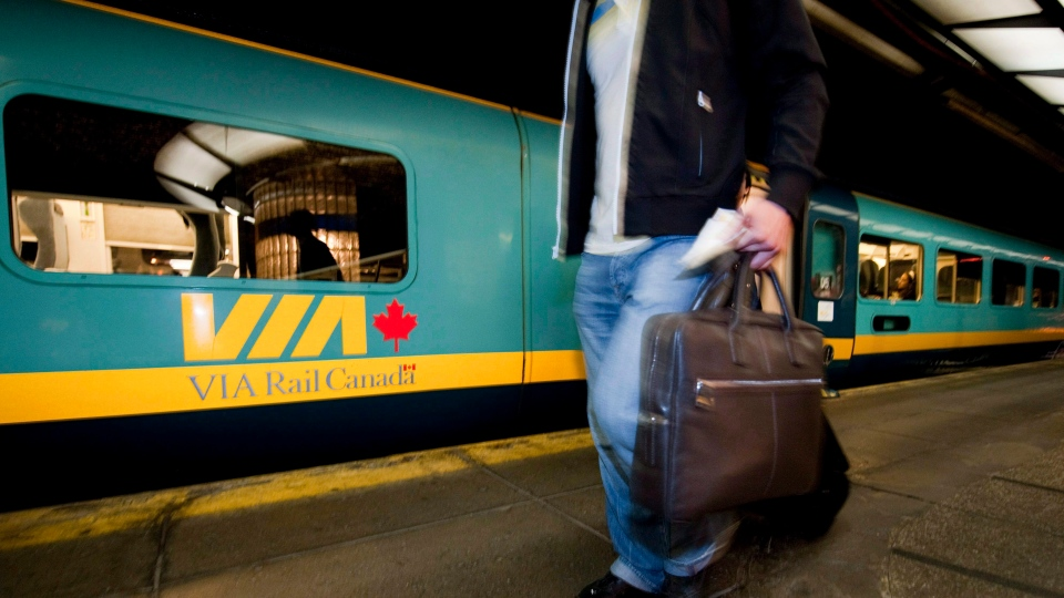 Via Rail says it has increased police and canine patrols in certain train stations following what it calls an 'unfounded' threat. (Peter McCabe / The Canadian Press)