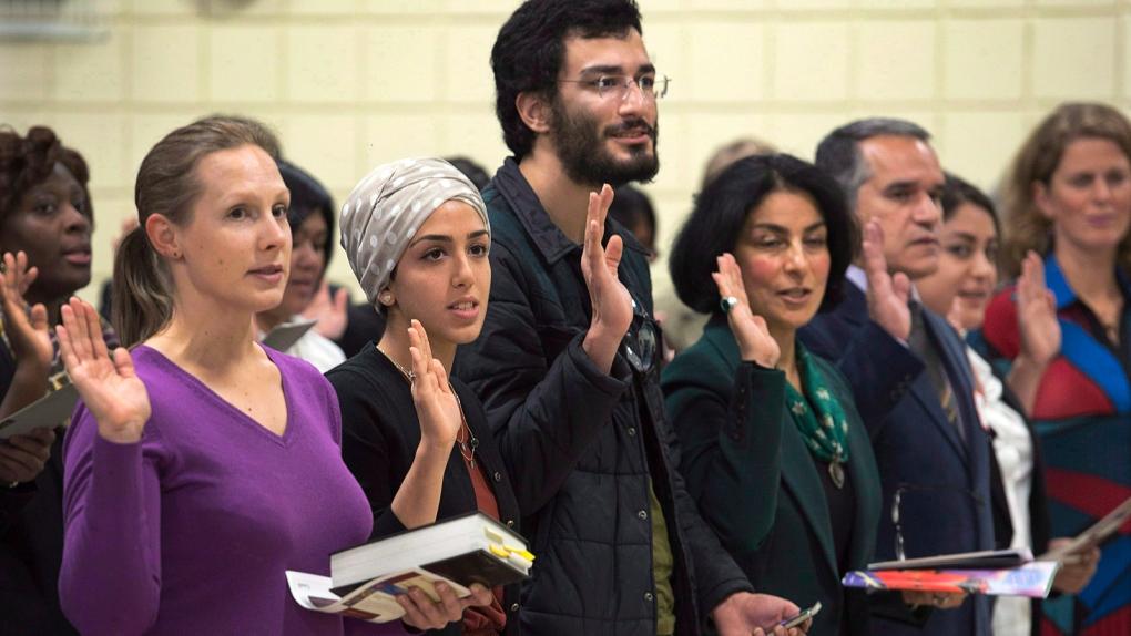 Citizenship ceremony in Nova Scotia