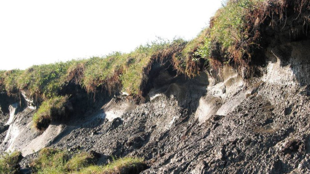 Thawing permafrost in Alaska