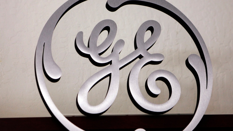 A General Electric (GE) sign is seen on display at Western Appliance store in Mountain View, Calif., Dec. 2, 2008.  (AP / Paul Sakuma, File)