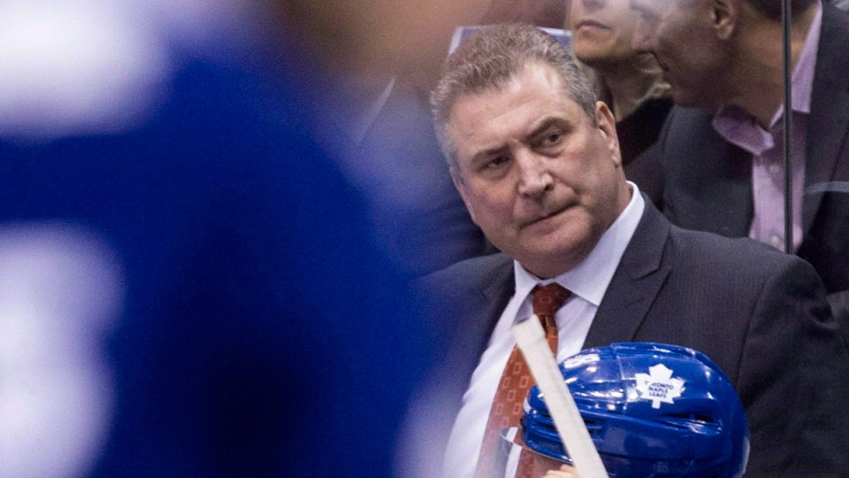 Peter Horachek looks on during an NHL game in Toronto on March 23, 2015. (THE CANADIAN PRESS / Chris Young)