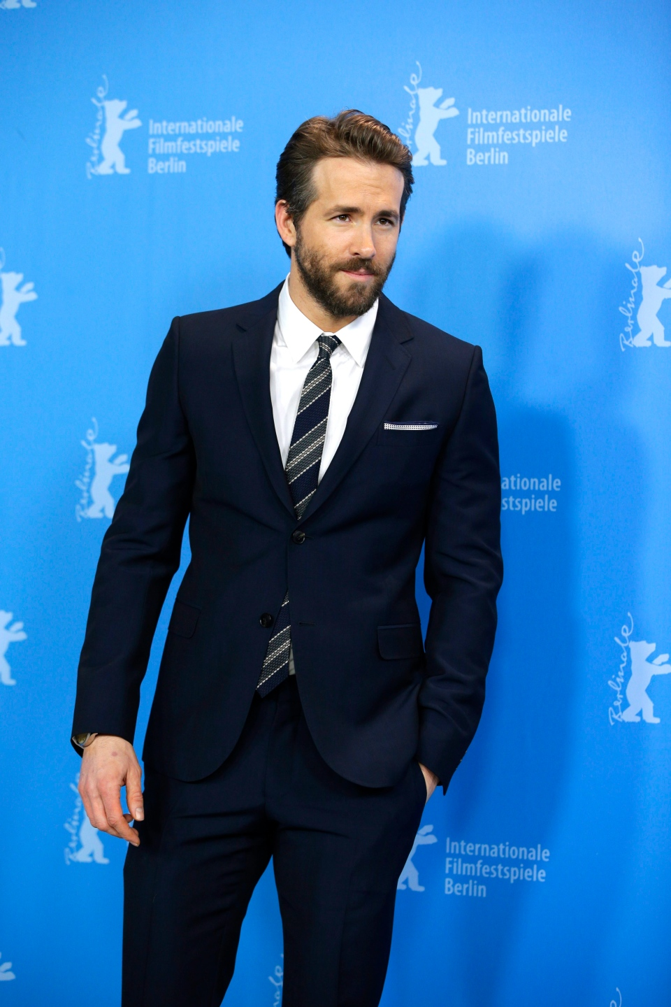 Ryan Reynolds in Berlin, Monday, Feb. 9, 2015. (AP / Michael Sohn)