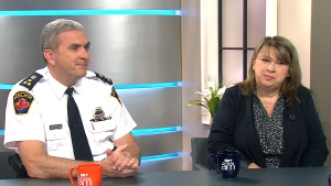 Hamilton Police Chief Glenn De Caire and mental health worker Sarah Burtenshaw speak to CTV's Canada AM, April 13, 2015.