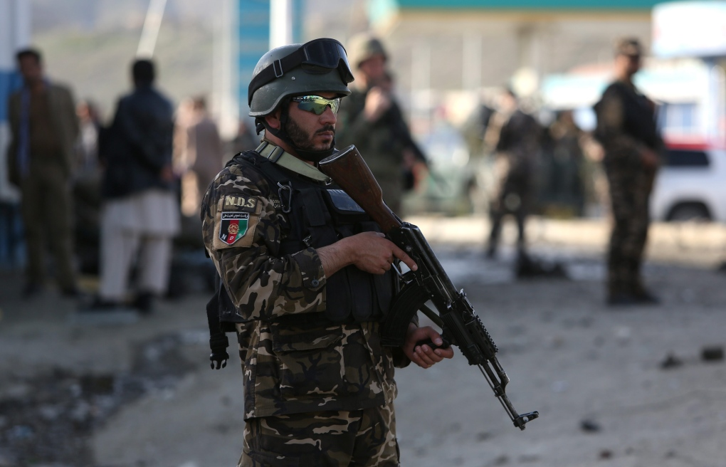 Afghanistan security personnel in Kabul