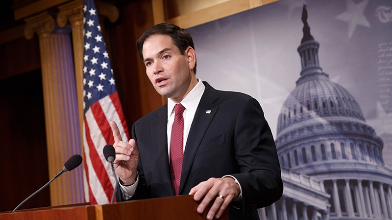 Sen. Marco Rubio, R-Fla. speaks on Capitol Hill in Washington on Dec. 17, 2014. (AP /J. Scott Applewhite)