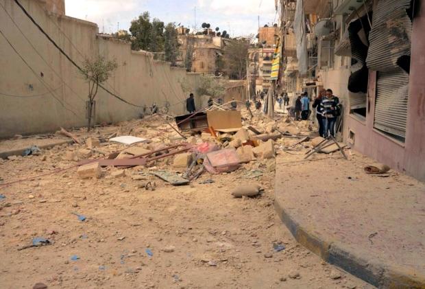 Aleppo, Syria hit by shelling