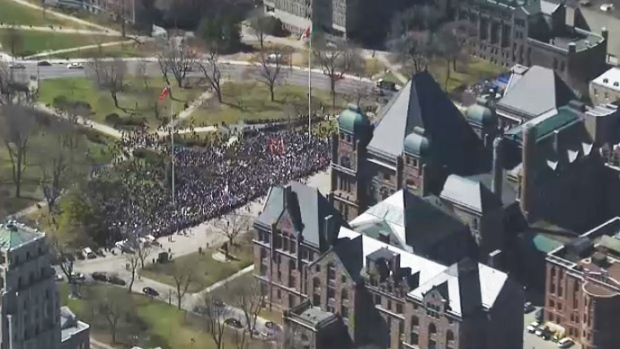 Sex ed protest at Queen's Park