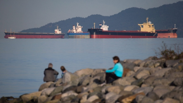 Cargo ship Marathassa, which leaked oil