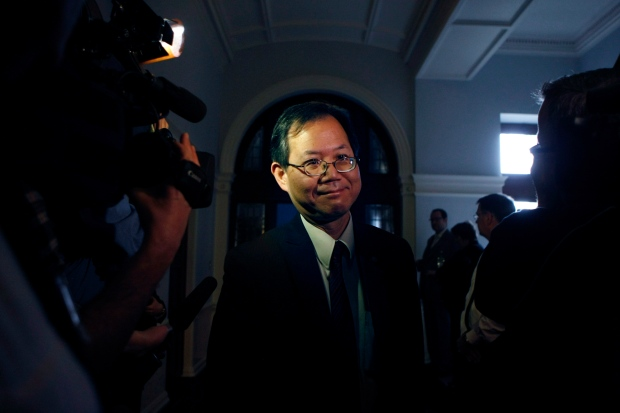 MLA Richard Lee leaves caucus in Victoria, B.C., in this Thursday March 14, 2013, file photo. (THE CANADIAN PRESS/CHAD HIPOLITO)