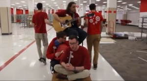 A group of Target employees in Victoria, B.C. perform 'Closing Time' in a video that's since gone viral online.