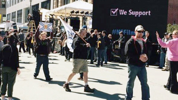 Supporters of the N.S. film industry held a large protest outside the provincial legislature on Wednesday.