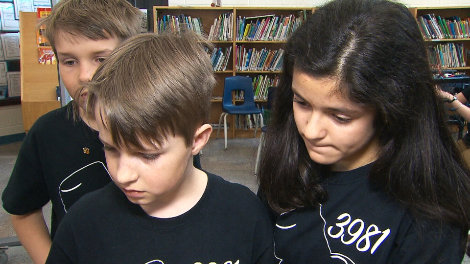 A group of Ontario middle-school students in the FIRST Lego League has designed an app to teach braille.