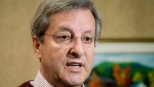 Saguenay, Que. Mayor Jean Tremblay, responds to reporters' questions in Saguenay, Que., on Saturday, September 1, 2012. In a decision that had an immediate impact in several cities and towns across the country, the Supreme Court of Canada ruled Wednesday that prayers cannot be recited before municipal council meetings in Saguenay, Que. THE CANADIAN PRESS/Jacques Boissinot