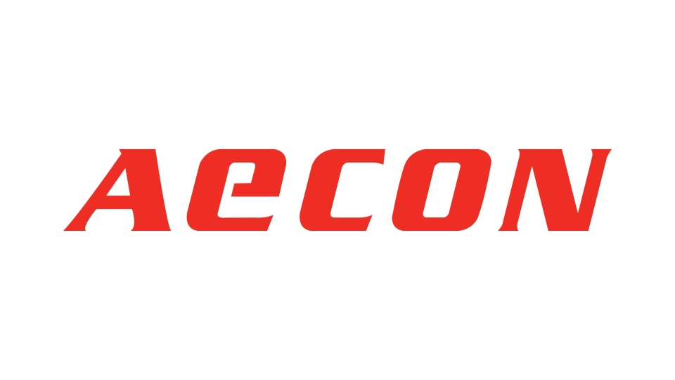The corporate logo of Aecon Group Inc. is shown in this handout image.