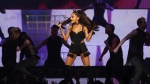 Ariana Grande performs in Vancouver in this CTV file photo (Kenny Tai/CTV)
