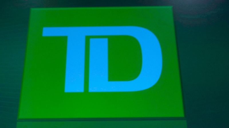 TD Bank logo is shown in Calgary, on April 3, 2014. (THE CANADIAN PRESS / Larry MacDougal)