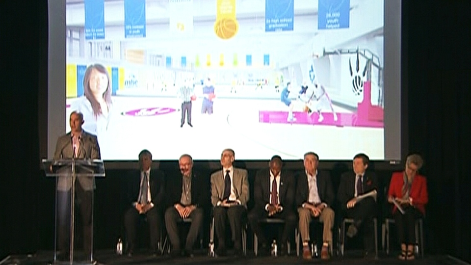 At the MLSE announcement in Toronto, on April 18, 2015.