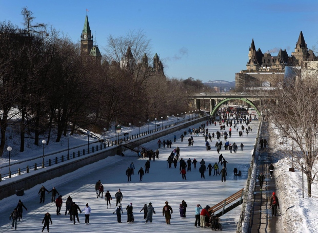 rideau canal skateway remains closed ctv ottawa news. Black Bedroom Furniture Sets. Home Design Ideas