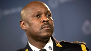 Police Chief Mark Saunders speaks to reporters in 2015 at a news conference. (Darren Calabrese / THE CANADIAN PRESS)