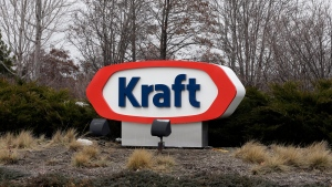 The Kraft logo appears outside of the headquarters on Wednesday, March 25, 2015, in Northfield, Ill. (AP / Nam Y. Huh)
