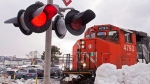 A CN Rail locomotive moves in the railway yard in Dartmouth, N.S., on Monday, Feb. 23, 2015. (THE CANADIAN PRESS/Andrew Vaughan)