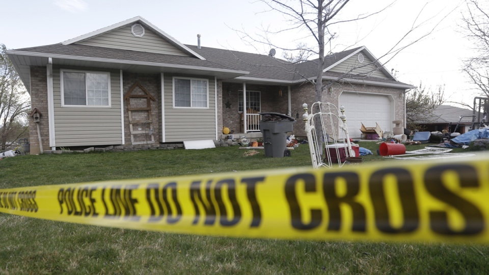 The former home of Megan Huntsman in Pleasant Grove, Utah, on April 13, 2014. (AP / Rick Bowmer)