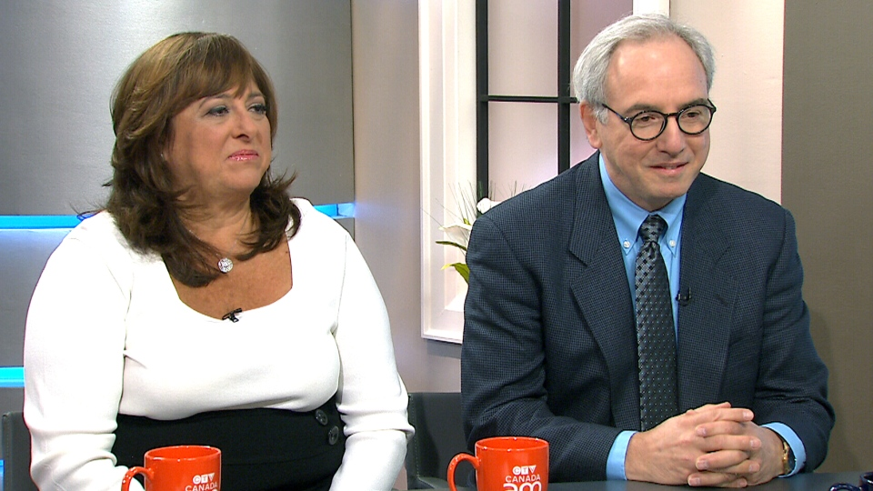 Lillyann Goldstein and Dr. Carlo Ammendolia speak to CTV's Canada AM on April 21,2015.