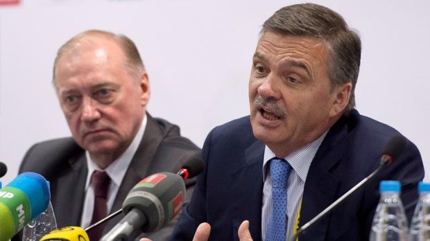 IIHF president Rene Fasel