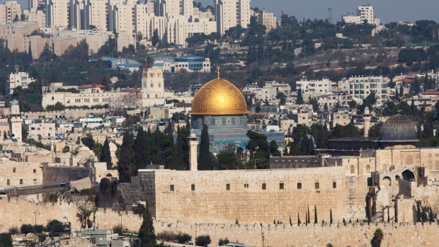 The Dome of the Rock Mosque in the Al Aqsa Mosque compound is seen in Jerusalem's old city, on Nov. 20, 2014. (AP / Sebastian Scheiner)