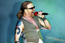 Axl Rose of Guns N' Roses performing in Denmark in 2006.