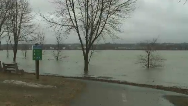 People who live near New Brunswick's St. John River are on flood watch. (CTV Atlantic)