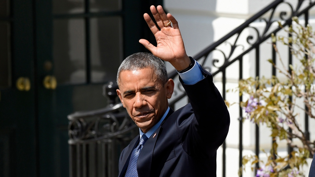 President Barack Obama outside the White House