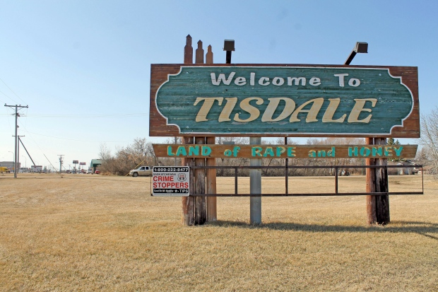Sign of Tisdale, Sask.