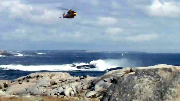 Recovery operation at Peggy's Cove