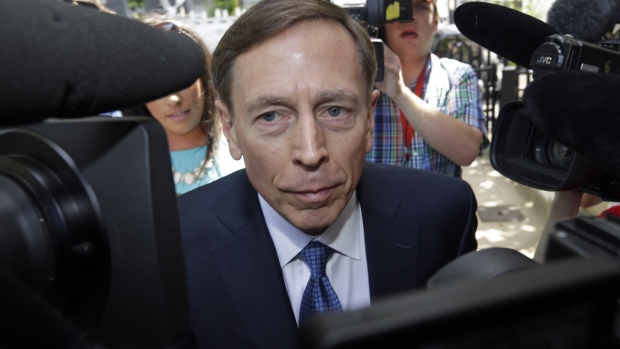 Former CIA director David Petraeus, whose career was destroyed by an extramarital affair with his biographer, arrives for sentencing at the federal courthouse in Charlotte, N.C., Thursday, April 23, 2015. (AP / Bob Leverone)