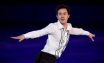 Men's silver medallist Patrick Chan performs in the figure skating closing gala at the Sochi Winter Olympics on February 22, 2014 in Sochi. (Paul Chiasson / The Canadian Press)