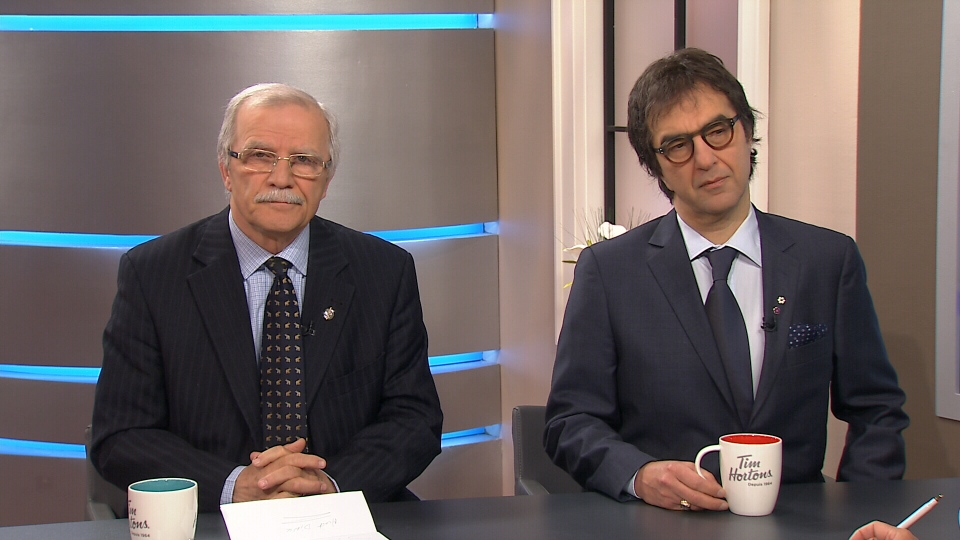 Former Liberal MP Sarkis Assadourian and filmmaker Atom Egoyan speak to CTV's Canada AM on April 24, 2015.