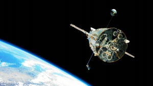 The Hubble Telescope is shown in orbit in this file photo.