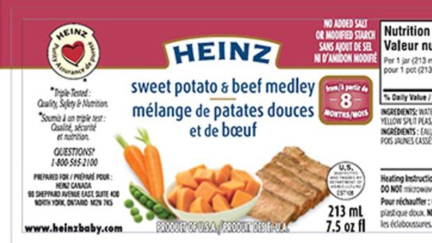 Ctv Heinz Baby Food Recall