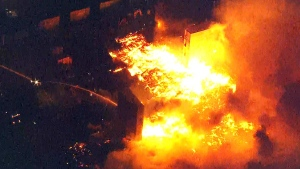 LIVE3: Fire burns in Baltimore after protests