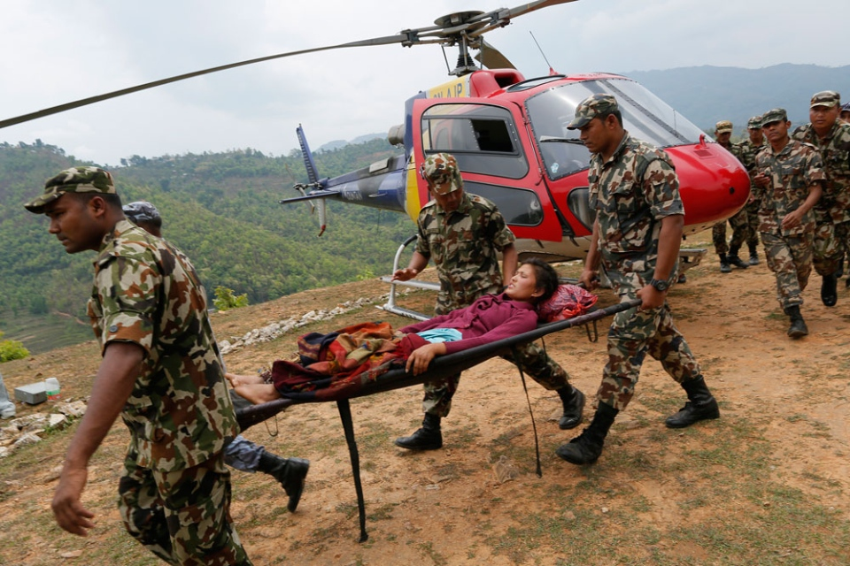 Nepal damage from the quake