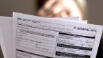 A tax return form is pictured in Toronto on Wednesday, April 13, 2011. (Chris Young / THE CANADIAN PRESS)