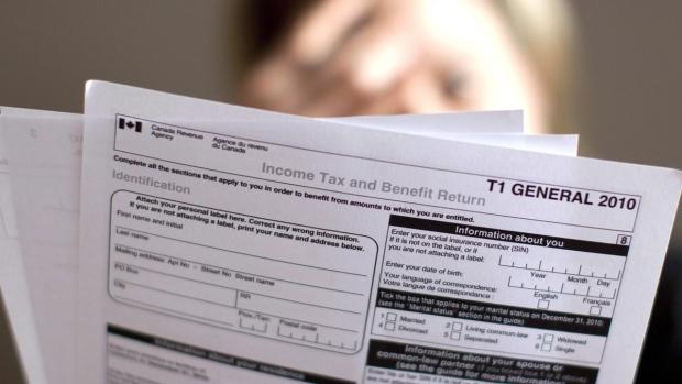A tax return form