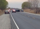Two people are dead and four others injured following a rollover crash on Highway 3 in Leamington, Ont. on Wednesday, April 29,2 015. (Stefanie Masotti / CTV Windsor)