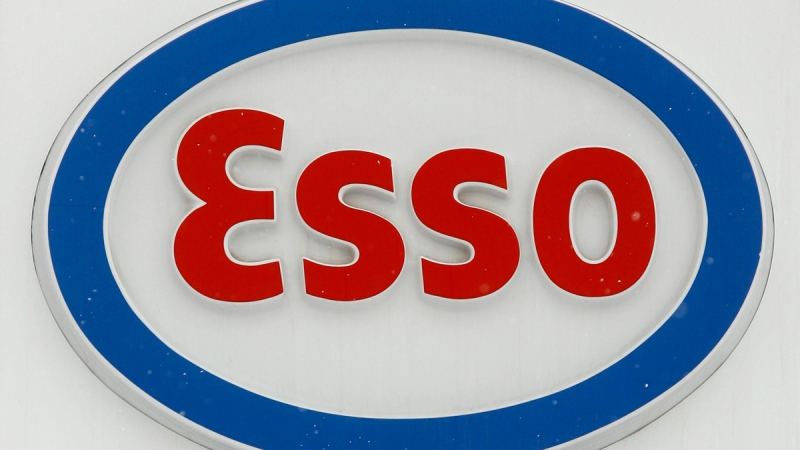 Esso gas station sign (file)