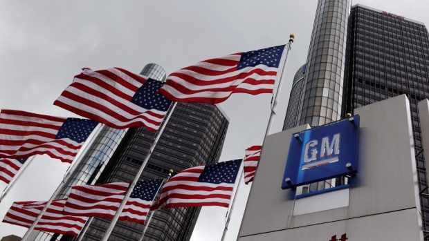 General Motors world headquarters in Detroit, on April 21, 2009. (Paul Sancya/AP)